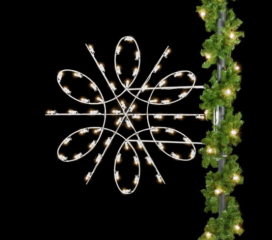 4.5' Spiral Snowflake, Pole Mount