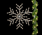 5' Deluxe Forked Snowflake, Pole Mount