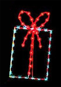 4' X 2' Gift Package, Blue and Red Lamps