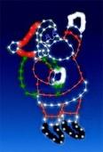 8' C7 Waving Santa Silhouette