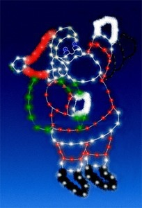 8' C7 Animated Waving Santa Silhouette