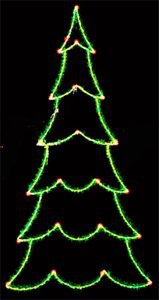 12' X 5' 2-D Carolina Pine Tree, Clear and Green Lamps