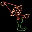 9' X 9' Pointing Elf, Clear, Green, Pink and Red Lamps