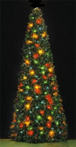 7' Rocky Mountain Pine Tree, C9 Multicolor Lights