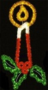 11' X 5' Candle w/Holly and Garland, Building Front, Amber, Clear, Green and Red Lamps