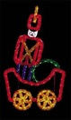 6.5' X 5' Animated Fantasy Toy Soldier Car, Building Front, Amber, Blue, Clear, Green and Red Lamps