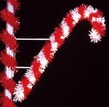6' X 3.5' Candy Cane, Pole Mount, Clear Lamps