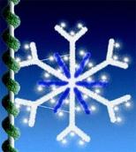 4' C9 Sparkling Snowflake Mount