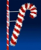6' X 4' Deluxe Candy Cane Pole Mount with LED Lamps