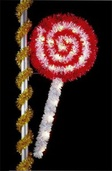 8' X 4.5' Lollipop, Pole Mount, Clear and Red Lamps