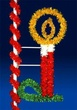8' X 4.5' Traditional Candle, Pole Mount, (Amber, Clear, Green and Red Lamps)