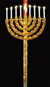 8' X 4' Menorah, Direct Mount, Amber and Clear Lamps