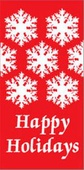 "Happy Holidays Snowflakes Light Pole Banner 30"" x 60"""
