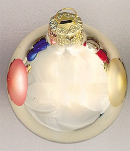 "3.25"" Champagne Ball Ornament - Shiny Finish"