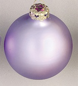Lavender Glass Ball Christmas Ornament