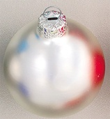 "1.5"" Silverfish Ball Ornament - Matte Finish"