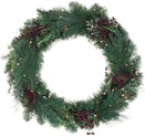 Savannah Mixed Pine Battery Operated LED Wreath, Warm White Lights