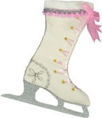 Girls Ice Skate Christmas Stocking