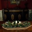 "42""  Scotch Mixed Pine Candle Centerpiece With Battery Operated  Lights"