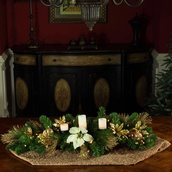 "42"" Battery Operated Canterbury Candle Centerpiece"