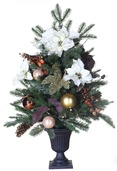3' Vermont White Battery Operated Table Top Potted Tree