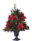 3' Crimson Harvest Battery Operated Table Top Potted Tree