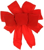 Red Exterior Wire Puff Velvet Bow