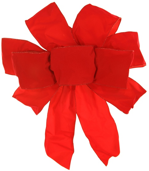 "24"" Red Velvet Puff Bow"