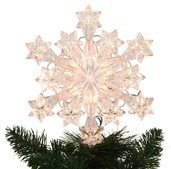 "9.5"" Lit Snowflake Tree Topper"