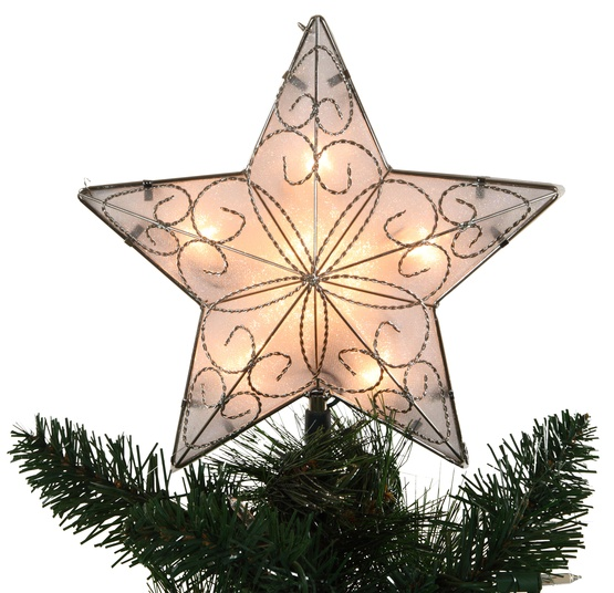 "8.5"" Lighted Star Tree Topper"