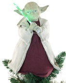 "12"" Star Wars Yoda Tree Topper with LED Light Saber"