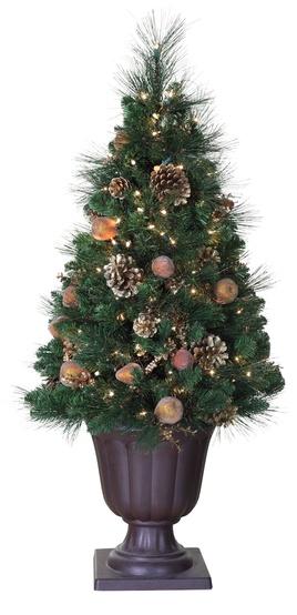 4' Harvest Gold Decorative Tree, 150 Clear Lights