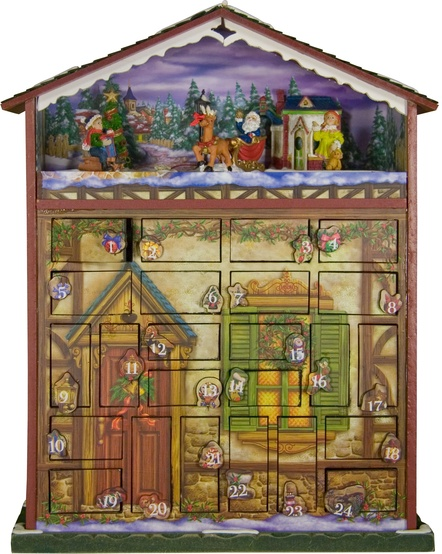 Battery Operated Musical 24 Days of Christmas Advent House