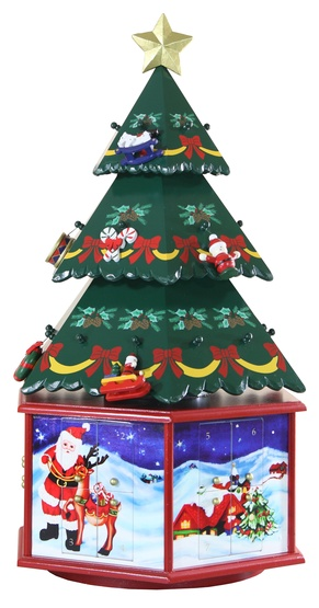 "20"" 3D Christmas Tree Advent Calendar"