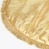 "56"" Gold Tree Skirt with Tassels"