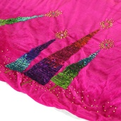 "56"" Pink Razzberry Velvet Tree Skirt"