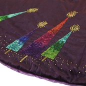 "56"" Purple Razzberry Velvet Tree Skirt"