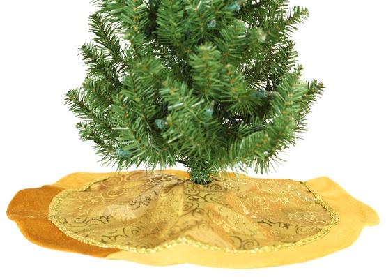 "20"" Mini Gold Tree Skirt"