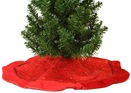 "20"" Bright Red Mini Christmas Tree Skirt"