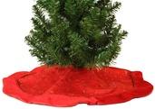 "20"" Bright Red Mini Christmas Tree Skirt"