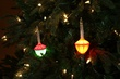C7 Traditional Glitter Bubble Lights, 7-Light Set, Clear Glittered Lamps, Green Wire