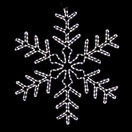 3' Giant White LED Snowflake
