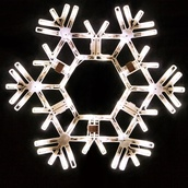 "20"" LED Folding Snowflake Decoration, 70 Cool White Lights"