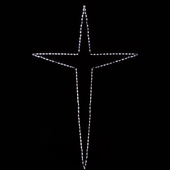 10' Giant LED Folding Bethlehem Star, 150 Cool White Lights