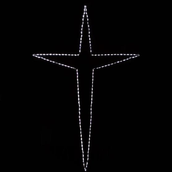 10' Giant LED Folding Bethlehem Star, 150 Cool White Lights