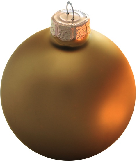 "6"" Antique Gold Ball Ornament - Matte Finish"
