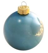 "3.25"" Baby Blue Ball Ornament - Pearl Finish"