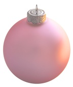 Baby Pink Glass Ball Christmas Ornament