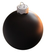 "1.5"" Black Ball Ornament - Matte Finish"