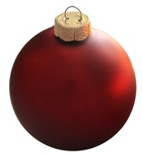 "4"" Bordeaux Ball Ornament - Matte Finish"